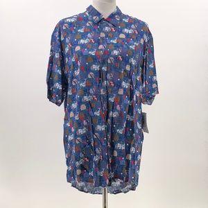 Lularoe Michael mens button up shirt sz L Large